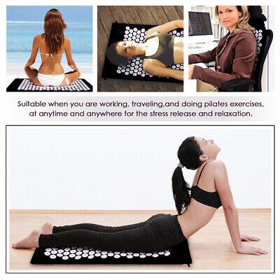 Massage Acupressure Mat Yoga Shakti Sit Lying Mats Pain Stress Soreness Relax AU 4