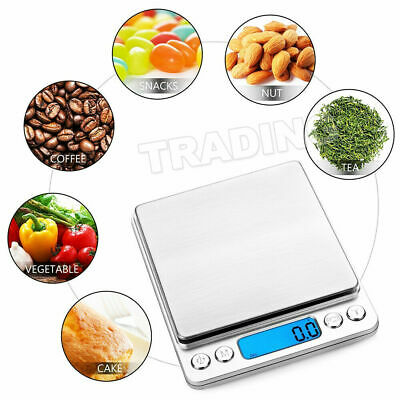 0.01-500g Kitchen Food Scale Digital LCD Electronic Balance Weight Postal Scales 8