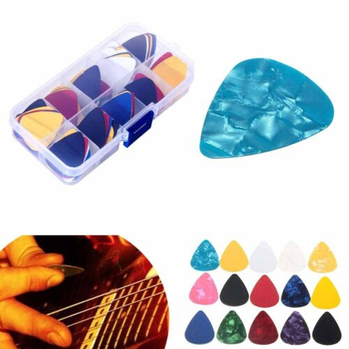 100pcs Guitar Picks Plectrums With Case For Acoustic Ukulele Electric Guitar A3X 3