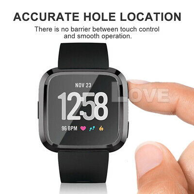 Soft TPU Silicone Shell Frame Full Case Cover Screen Protector for Fitbit Versa 5