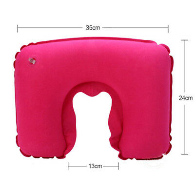 Portable Inflatable Flight Pillow Neck U Rest Air Cushion Eye Mask  Earplug 4