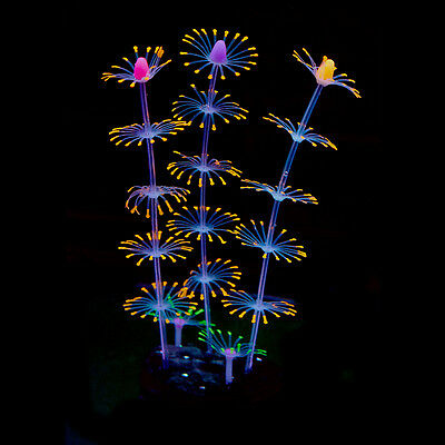 Silicone Artificial Fish Tank Aquarium Coral Plant Flower Ornament Water Decors 4
