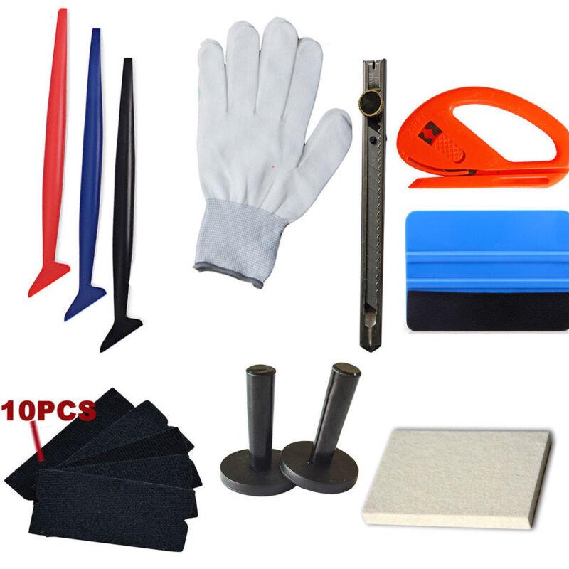 Car Vinyl Wrap Tool 3M Felt Squeegee Carbon Fiber Knife Blade Window Tint Kit PG 2