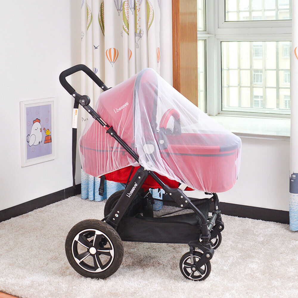 Anti Mosquito Fly Insect Net Mesh Buggy Cover For Stroller Pushchair Pram Hot 9