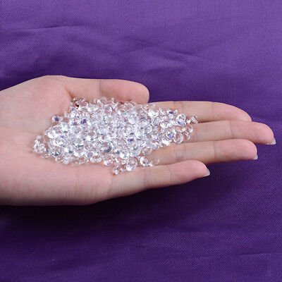 NEW Clear Glass Crystal Diamond Shape Jewel Wedding Party Table Confetti 6-100mm 11