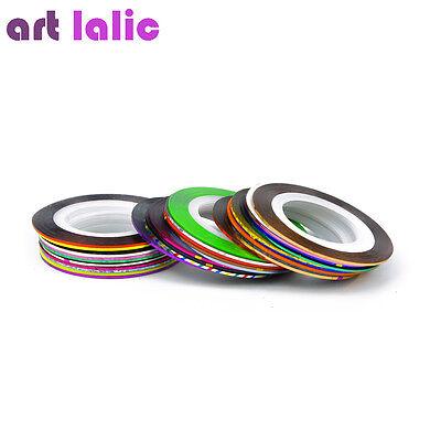 10Pcs Choose Color Rolls Striping Tape Line Nail Art Tips Decoration Sticker DIY 4
