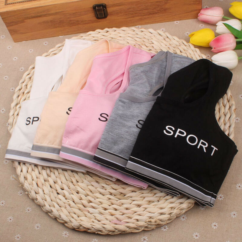 Teen Kids Girls Underwear Bra Vest Children Underclothes Sport Undies Clothes 3