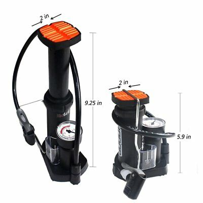 MTB Compact Bike Mini Pump for Mountain and Road - Tyre Tire Air Pressure Gauge 4