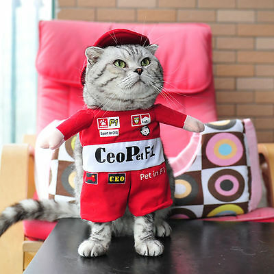 Pet Small Dog Cat Pirate Costume Outfit Jumpsuit Clothes For Halloween Christmas 10