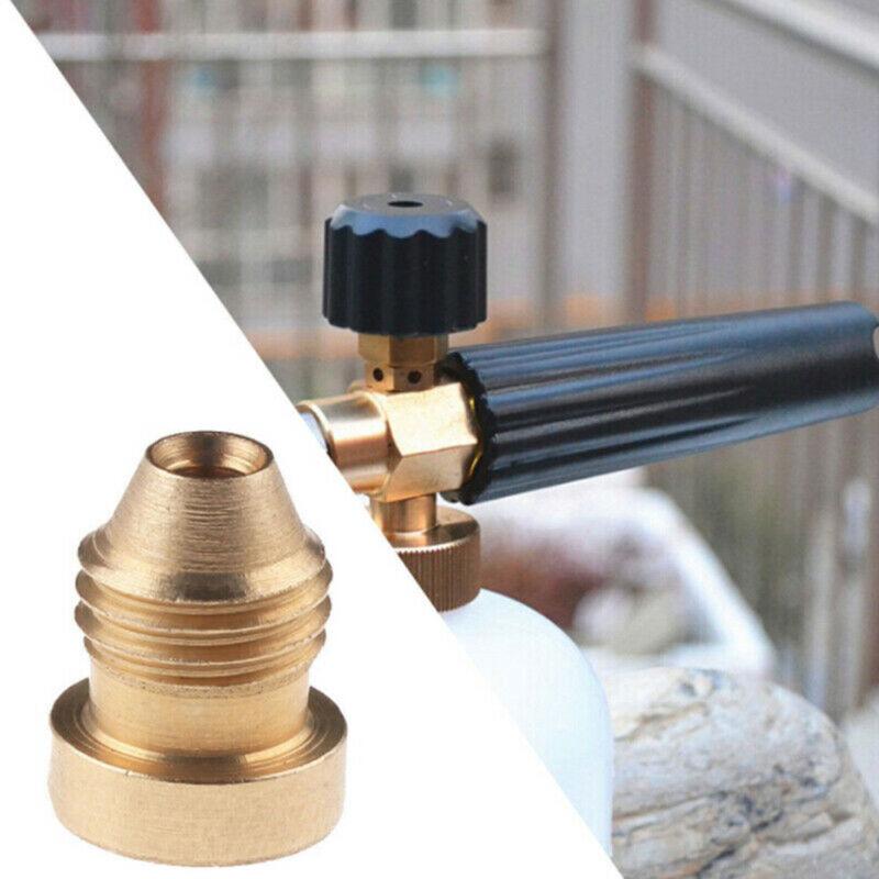 1.1mm / 1.25mm Foam Cannon Orifice Nozzle Tips Thread Nozzle For Snow Foam Lance 7