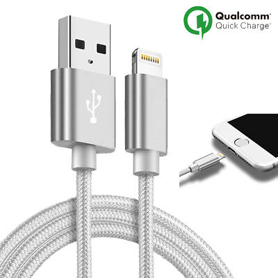 LOT3 CABLE CHARGEUR USB IPHONE X 8 7 6S 6 PLUS 5 SE XR XS MAX Rapide 2 Mètre 8