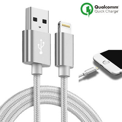 LOT3 CABLE USB CHARGEUR POUR IPHONE X 8 7 6S 6 PLUS 5 SE XR XS MAX Rapide 2Mètre 8