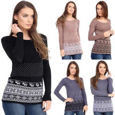 Girls Women's Ladies Christmas Hoodie Sweatshirt Jumper Sweater Hooded Pullover 2