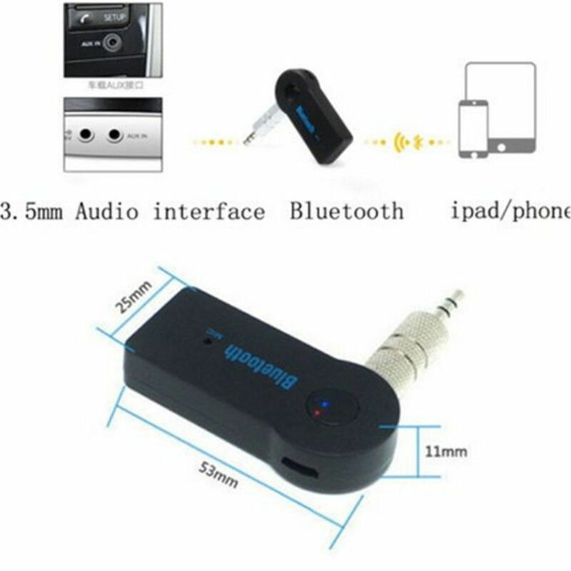 USB 3.5mm Bluetooth Wireless Aux Stereo Audio Music Car Adapter Receiver FT Mini 10