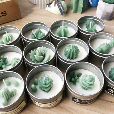 Succulent Cacti Candle Mold Moulds Soap Molds DIY Craft Plaster Silicone Molds 4
