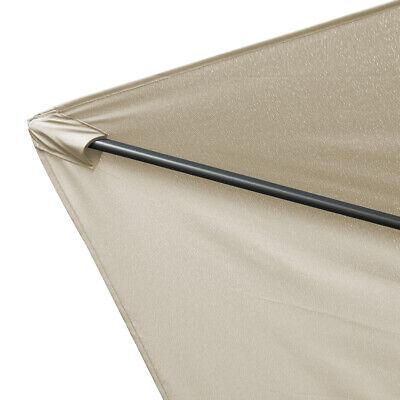 2.5M Round Garden Parasol Umbrella Patio Sun Shade Aluminium Crank Tilt 5