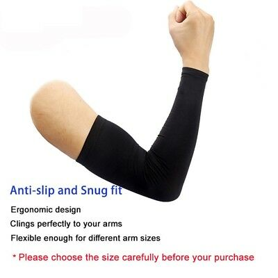 2Pairs UV Sun Protection Compression Cooling Sports Arm Sleeves Warmer Covers 3