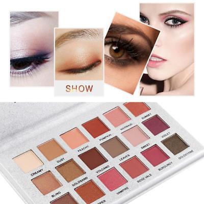 18 Colors Pro Matte Glitter Eyeshadow Makeup Shimmer Eye Shadow Palette Cosmetic 2