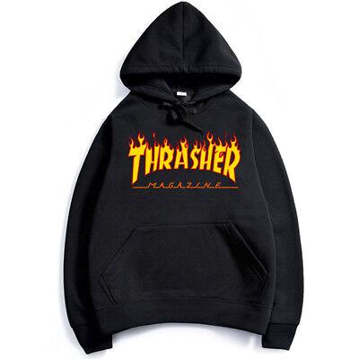 Hommes Femmes Hip-Hop À Capuche Coton De Base Skateboard Thrasher Sweatshirts 4