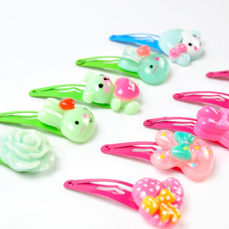 Wholesale 20pcs/Sets Mixed Cartoon Baby Kids Girls HairPin Hair Clips Jewelry- 9