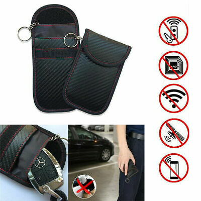 Car Key Signal Blocker Pouch Case FOB Fraday Bag RFID Security Blocking New UK 9