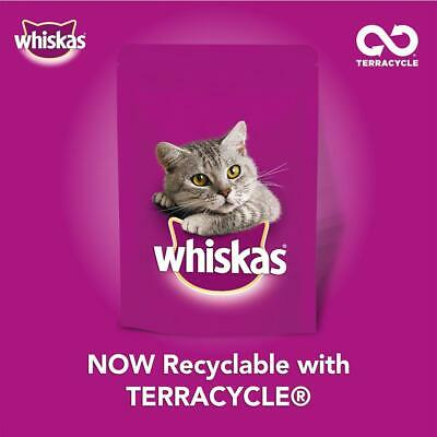 80 x 100g Whiskas 1+ Adult Wet Cat Food Pouches Mixed Meaty In Gravy 10