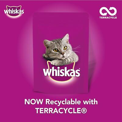 Whiskas 1+ Adult Wet Cat Food Pouches Meat Selection In Gravy 80x100g Pouches 10