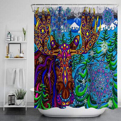 Psychedelic Shower Curtain Bathroom Waterproof Fabric Trippy Acid Wallpaper