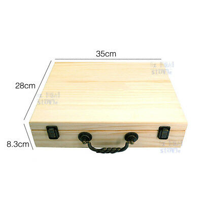 70 Slot Aromatherapy Essential Oil Storage Box Wooden Case Container Holder OZ 4