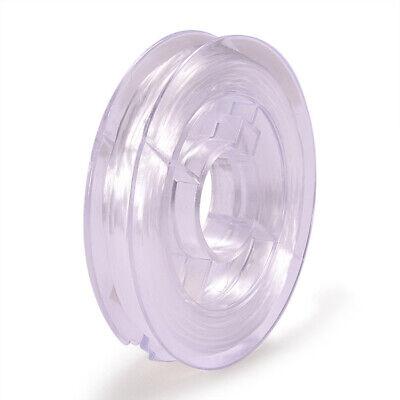 Bobine de fil Nylon Elastique 0,8mm Blanc environ 10m creation bijoux, bracelet 2