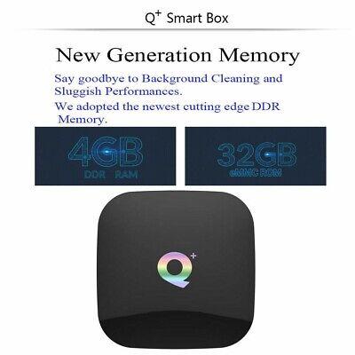 Smart Tv Box Q-Plus Android Pie 9.0 4Gb Ram 64Gb 6K Wifi +Tastiera 6