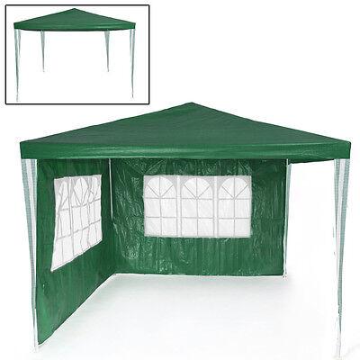 Tonnelle de jardin barnum auvent chapiteau tente pavillon de jardin 3x3 m vert