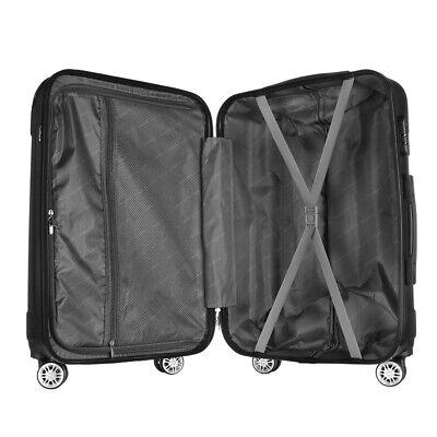 Reisekoffer SET 3tlg. Hartschalen Trolley Handgepäck Kofferset Bordgepäck 12