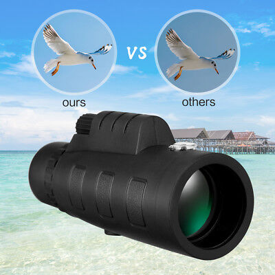 50x60 Portable HD Optical Monocular Telescope Day/Night Vision+Phone Clip+Tripod 5