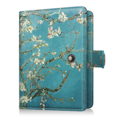 Vegan Leather RFID Travel Passport Holder Wallet Cover Case with Snap Closure