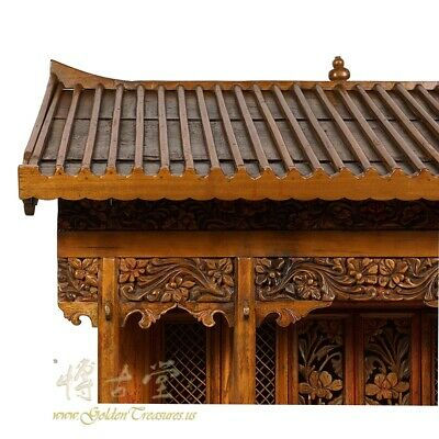 19 Century Antique Chinese Wooden Carved Altar/Buddha House/Shrine 4