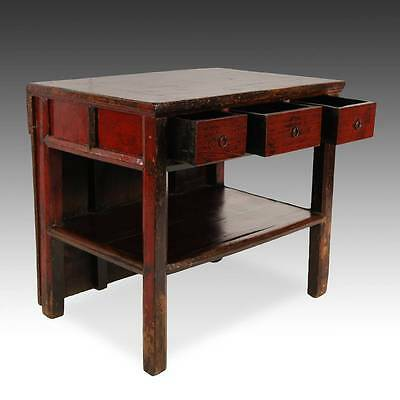 Antique Chinese Qing Opera Podium Table Elm Wood Furniture Hebei China 19Th C. 5