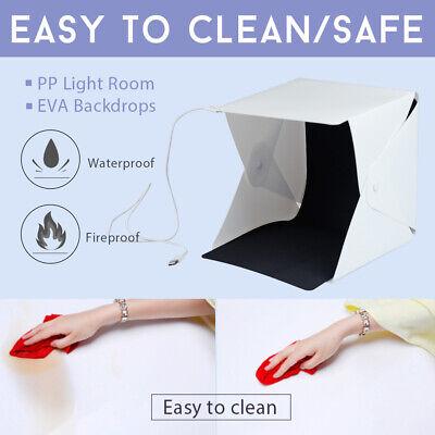 Photo Studio MINI LED Lighting Tent Kit Portable Folding Light Box 6pcs Backdrop 2