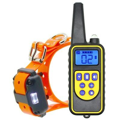 Rechargeable 2600 FT Remote Dog Training Shock Collar Waterproof Hunting Trainer 10