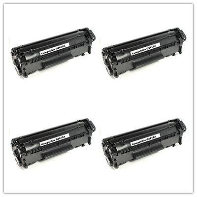 4 Pack Q2612A 12A Toner Cartridge For HP LaserJet 1012 1015 1018 1020 1022 3015 2