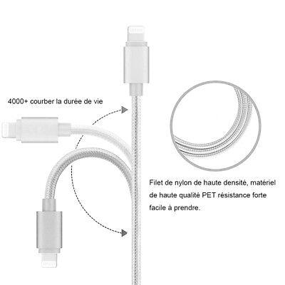 LOT3 CABLE USB CHARGEUR POUR IPHONE X 8 7 6S 6 PLUS 5 SE XR XS MAX Rapide 2Mètre 10