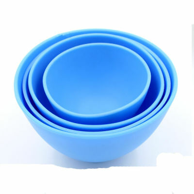 Dental Lab Mixing Bowl Blue Nonstick Flexible Silicone Rubber Impression Cup 2