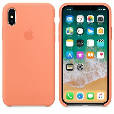 Original Silicone Leather Case For iPhone XR XS Max 6 7 8 Plus Genuine OEM Cover 11