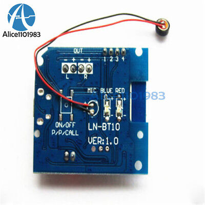 PAM8406 Audio Receiver Module Bluetooth 4.1 Amplifier Board 5W+5W Hand-Free Call