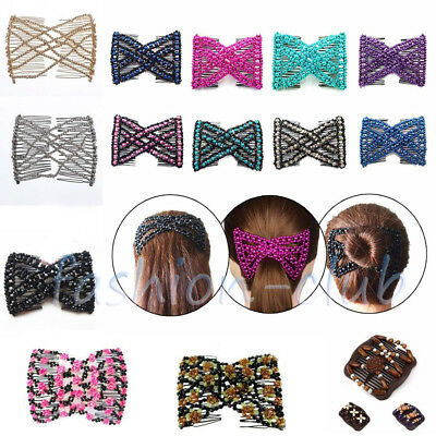 Ornamenten Trend African Hairclip Haarklammer Haarkamm Butterfly Holzdesign mit