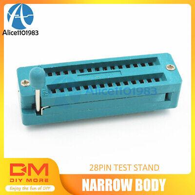 1PCS 28P 28-Pin Narrow Body Universal ZIF Test DIP IC Socket Connector
