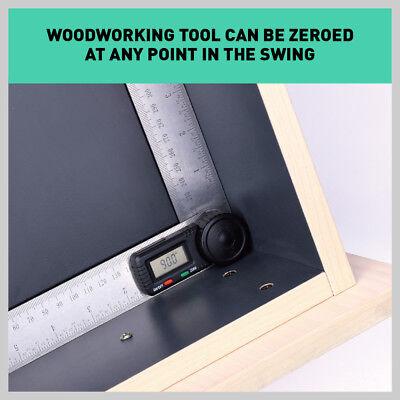 200mm Digital Angle Finder Ruler Protractor Measure Meter Stainless Steel 0-360° 6