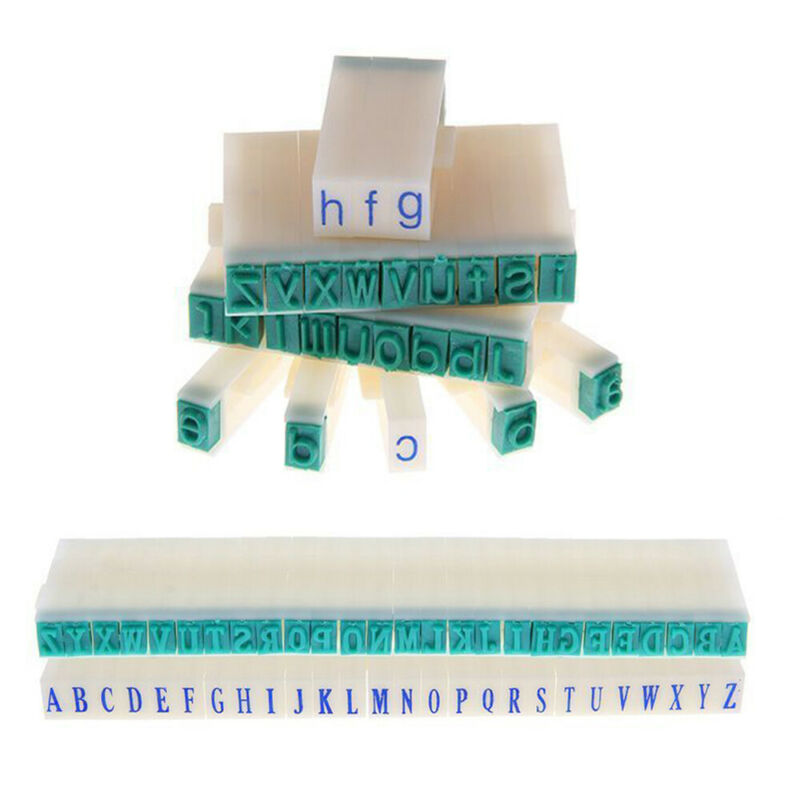 3 Type DIY English Alphabet Letter Number Rubber Stamp Free Combination Craft 6