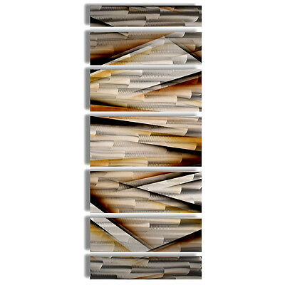 MODERN CONTEMPORARY ABSTRACT Metal Wall Art Sculpture Brown Painting ...