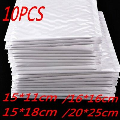 New Chic White Poly Bubble Mailers Padded Envelopes Self Seal Bag Shipping Bags 2